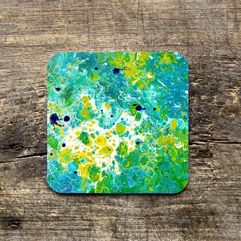 Teal & Green Coasters - Louise Mead