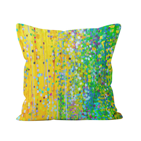 Yellow & Green Cushion - Louise Mead