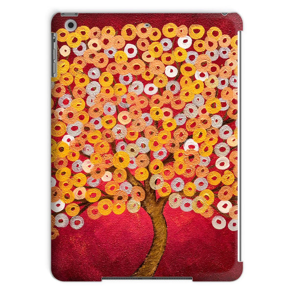 Red & Metallic Tree iPad Case