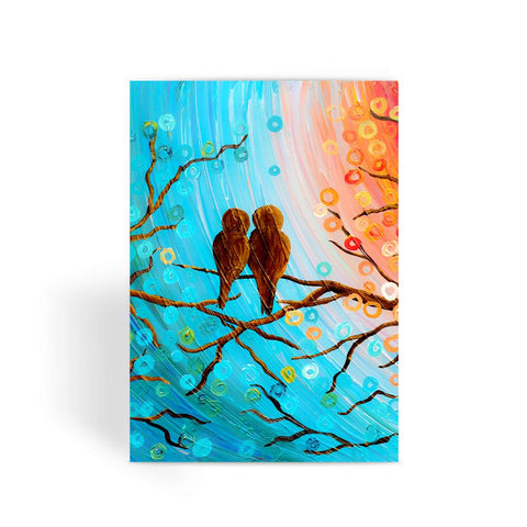 Lovebirds Greeting Card - Louise Mead