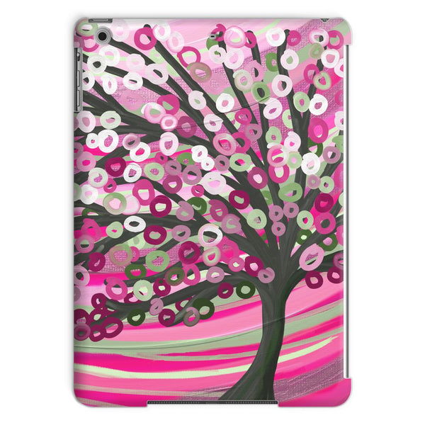 Pink & Sage Green Tree iPad Case