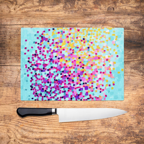 Summertime Glass Chopping Board - Louise Mead