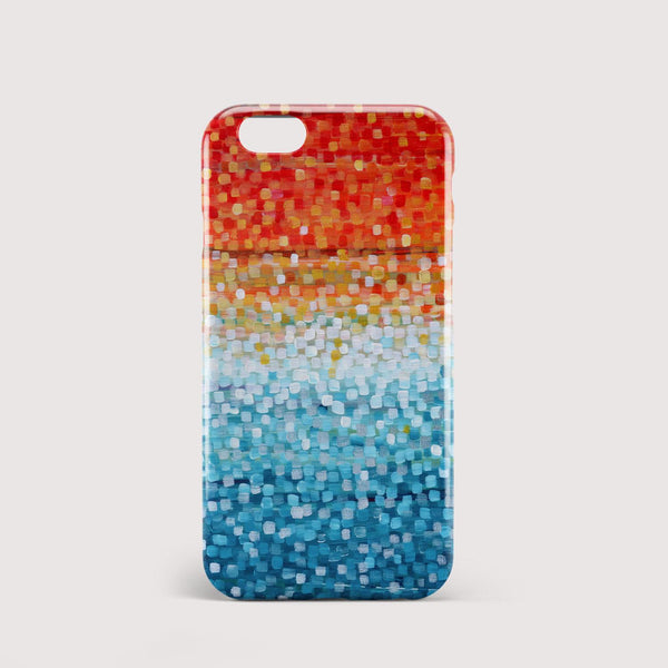 Cooling Sun Orange & Teal iPhone Case - Louise Mead