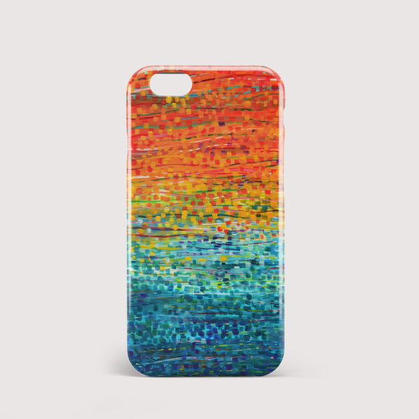 Fiesta Orange & Teal iPhone Case - Louise Mead