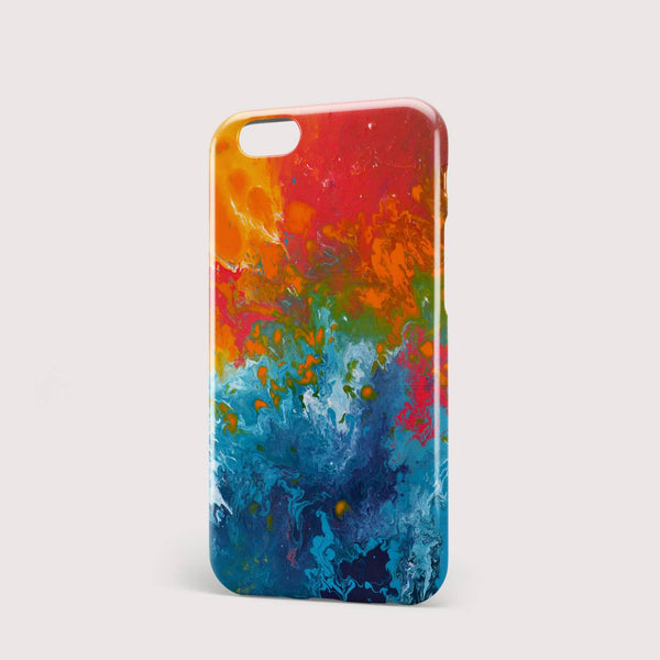 Incalescence Orange & Teal iPhone Case - Louise Mead
