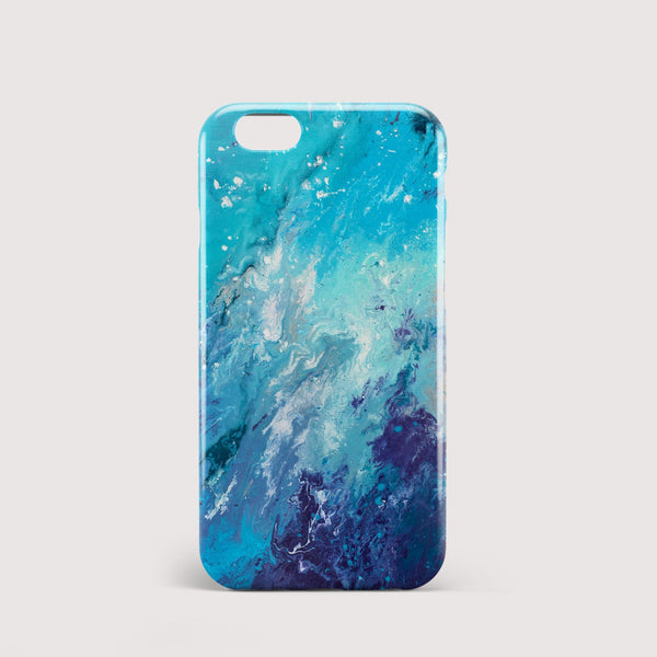 Drift Away Blue iPhone Case - Louise Mead