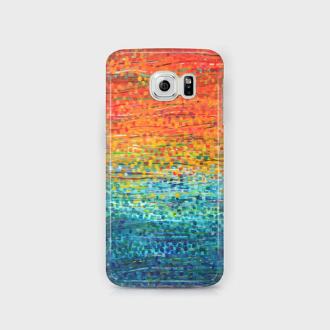 Orange & Teal Samsung Case - Louise Mead