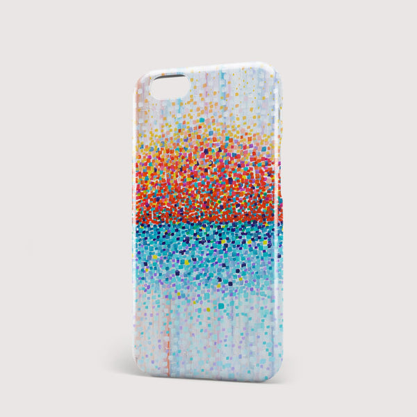 Bring Me Sunshine Orange & Blue iPhone Case - Louise Mead