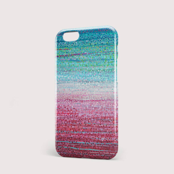 Dusky Sunday Pink & Teal iPhone Case - Louise Mead