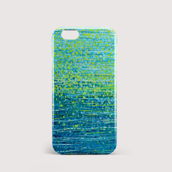 Forest Glade Teal & Green iPhone Case - Louise Mead