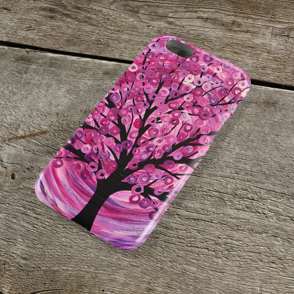 Raspberry Ripple Tree iPhone Case - Louise Mead