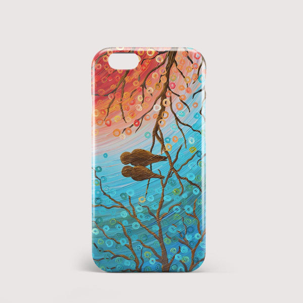 Lovebirds iPhone Case - Louise Mead