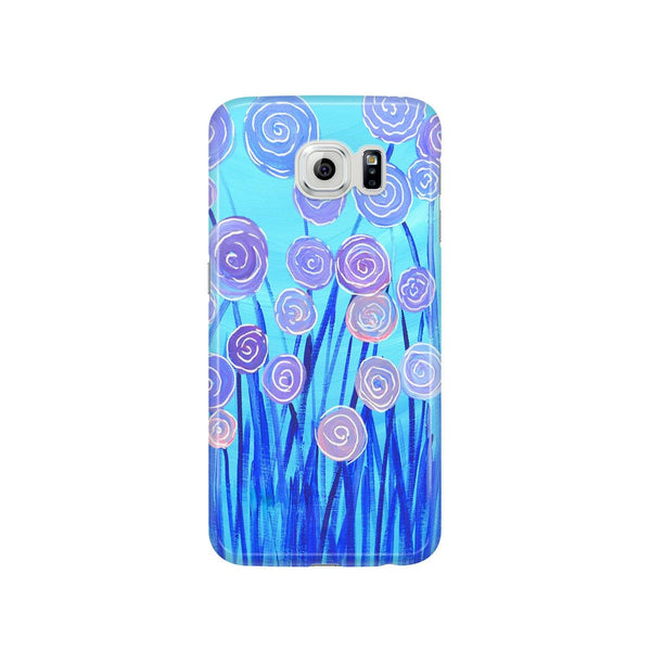 Blue & Lilac Flowers Samsung Case - Louise Mead