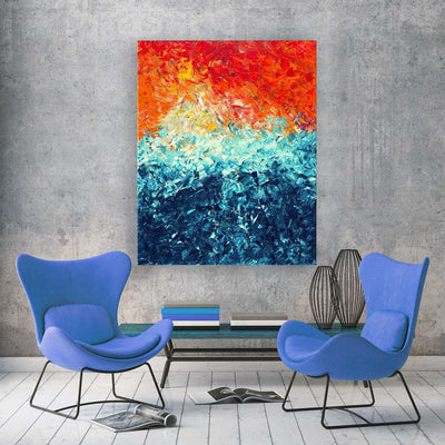 The Wave Canvas Print - Louise Mead