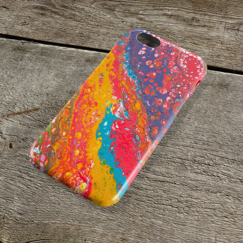 Falling Rainbows iPhone Case - Louise Mead