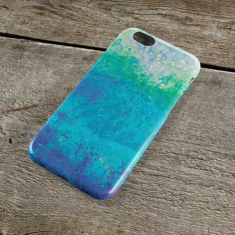 Blue & Green iPhone Case