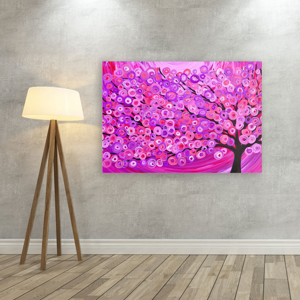 Pink Tree Canvas Print - Louise Mead