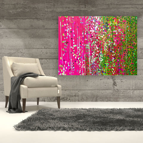 Pink & Green Canvas Print - Louise Mead
