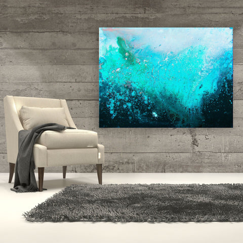 Teal & Turquoise Canvas Print - Louise Mead