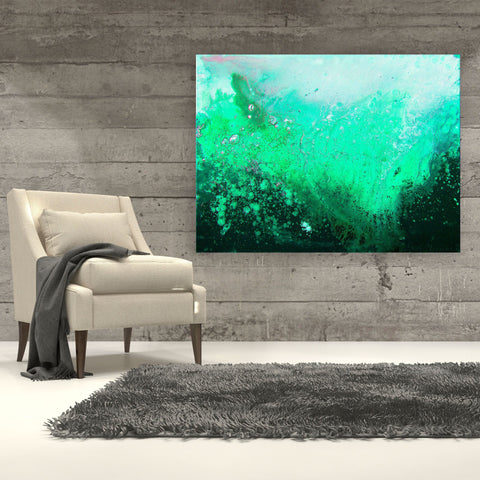 Green Canvas Print - Louise Mead
