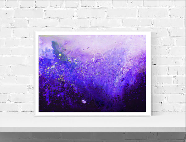 Purple Minimalist Abstract Wall Art Print - Louise Mead