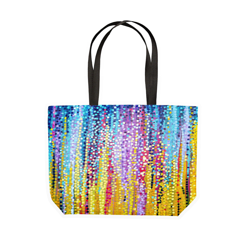 Blue & Yellow Canvas Tote - Louise Mead