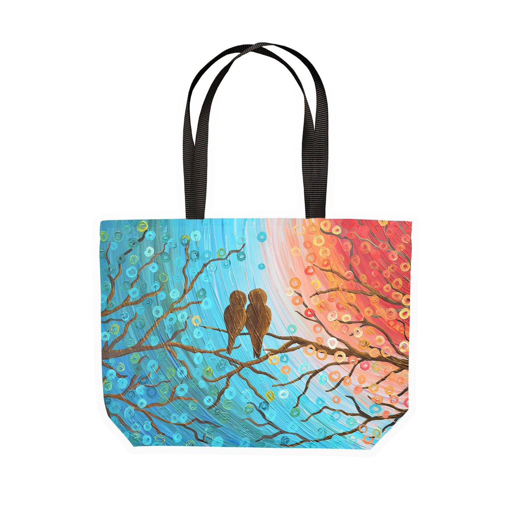 Lovebirds Canvas Tote - Louise Mead