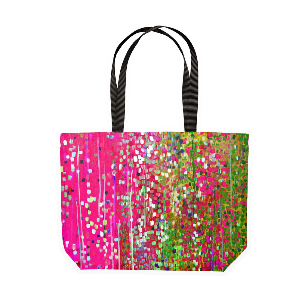 Pink & Green Canvas Tote - Louise Mead