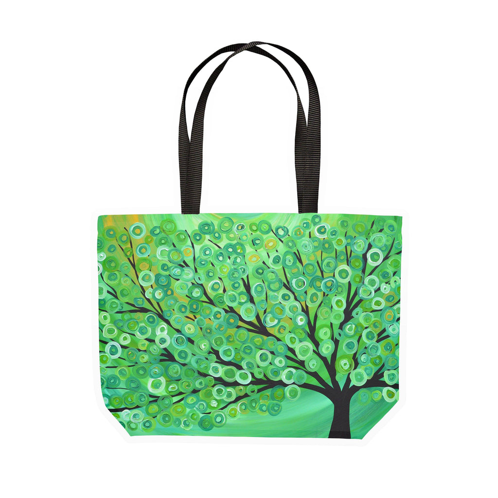 Green Tree Canvas Tote - Louise Mead