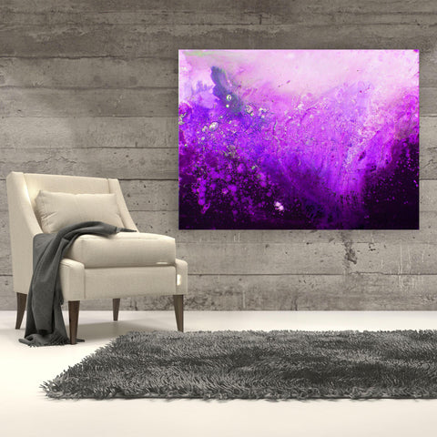 Purple Monochrome Canvas Print - Louise Mead