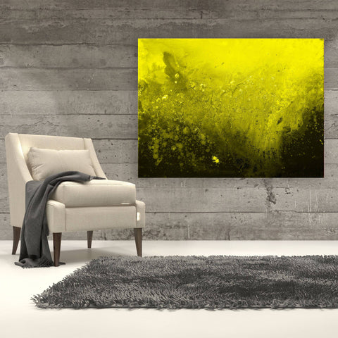 Golden Lime Canvas Print - Louise Mead