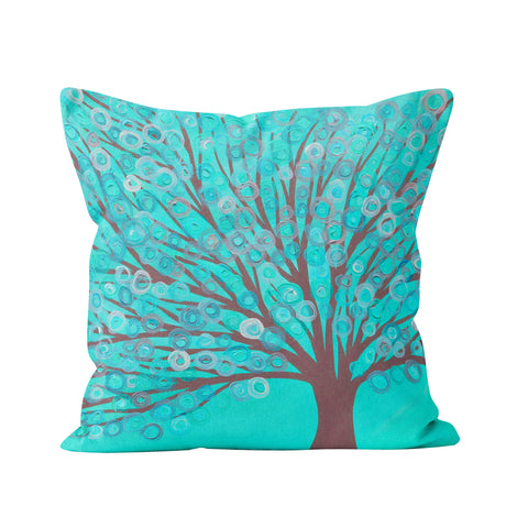 Turquoise & Grey Cushion - Louise Mead