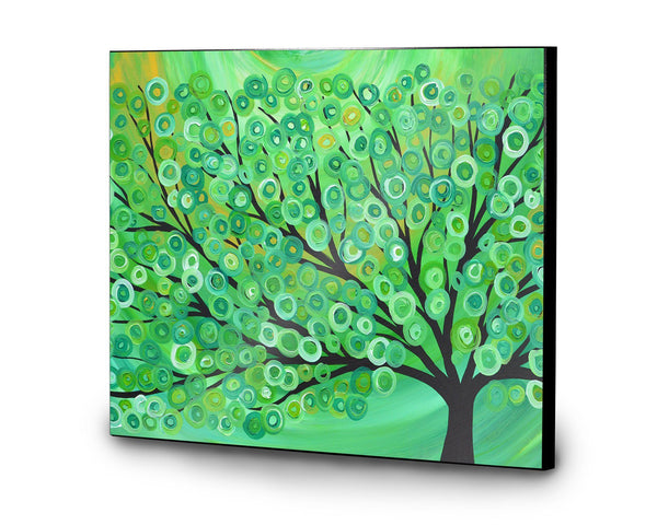 Green Tree Wooden Print - Louise Mead
