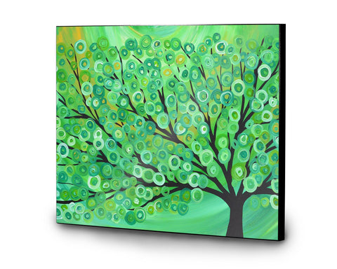 Green Tree Wooden Print