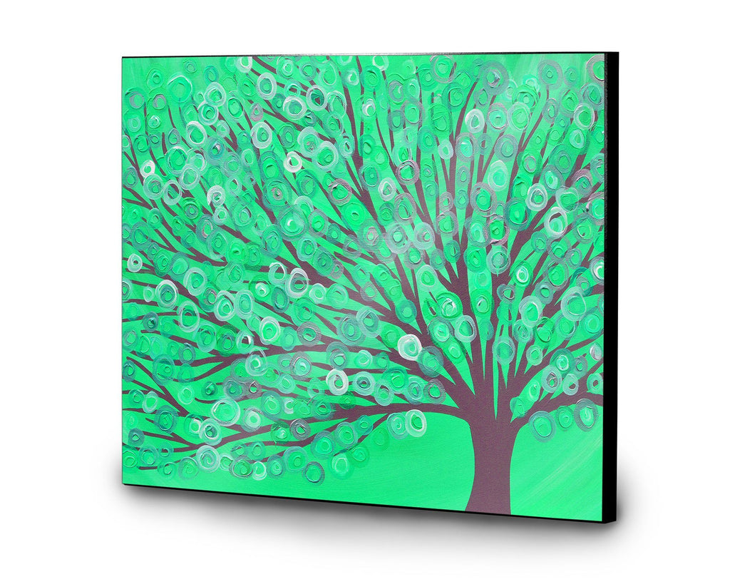 Peppermint Green Tree Wooden Print - Louise Mead