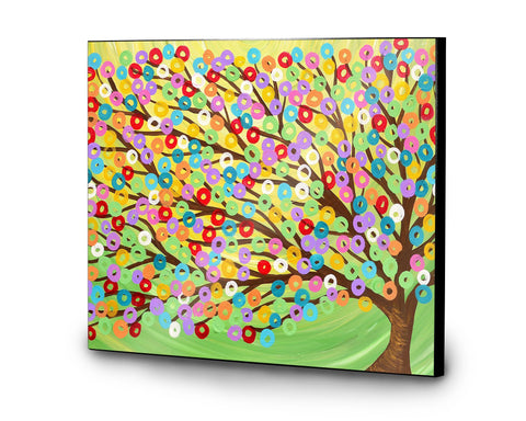 Colourful Tree Wooden Print - Louise Mead