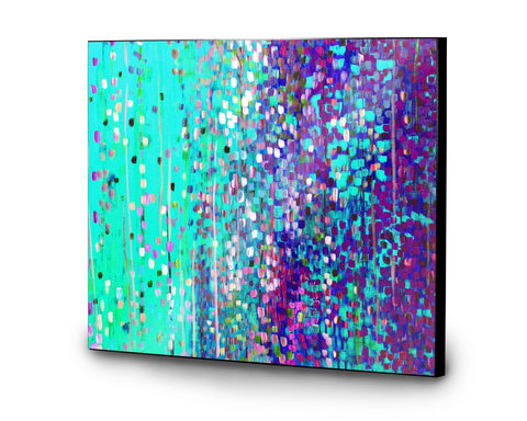 Turquoise & Purple Wooden Panel Print
