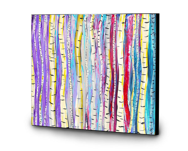 Birch Trees Wooden Print - Louise Mead