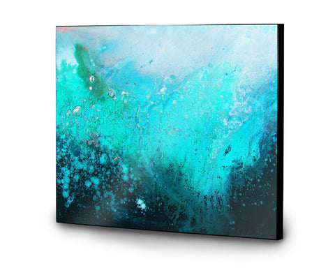 Teal Wooden Panel Print - Louise Mead