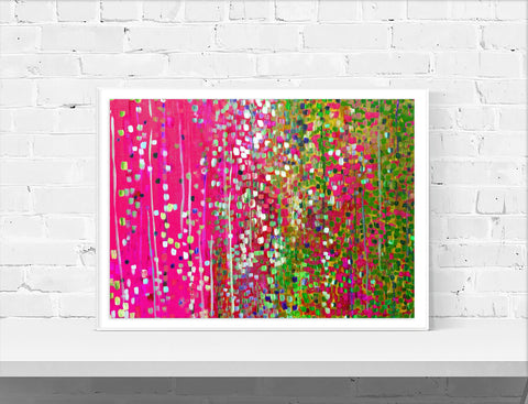 Pink & Green Wall Art Print - Louise Mead