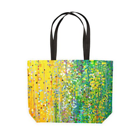 Yellow & Green Canvas Tote - Louise Mead