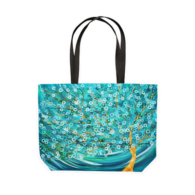 Teal Tree Canvas Tote - Louise Mead