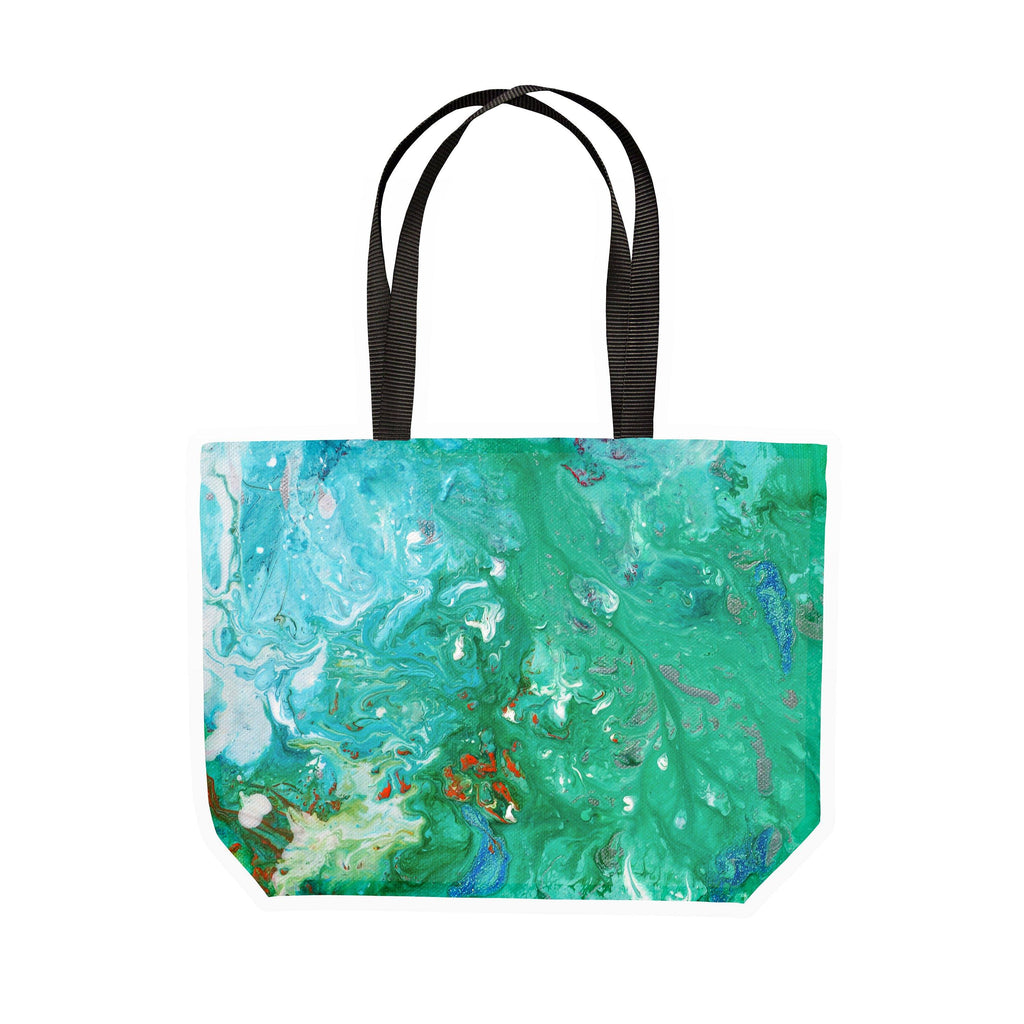Green Canvas Tote - Louise Mead