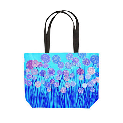 Blue Flowers Canvas Tote - Louise Mead