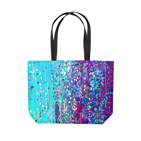 Blue & Purple Canvas Tote - Louise Mead
