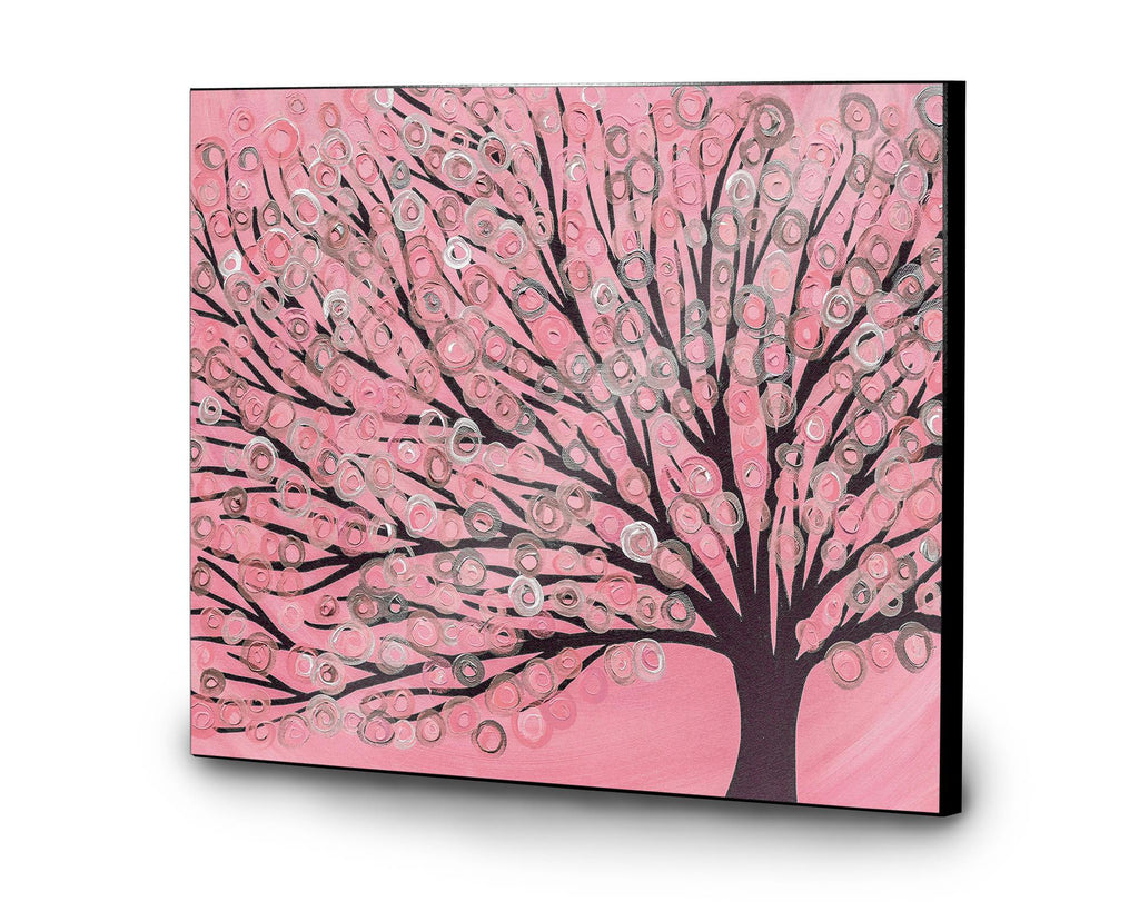 Pink Tree Wooden Print - Louise Mead