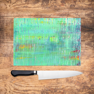 Rain Glass Chopping Board - Louise Mead