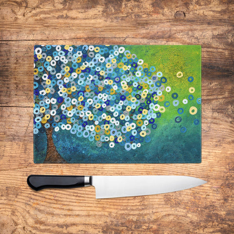 Still Night Glass Chopping Board - Louise Mead