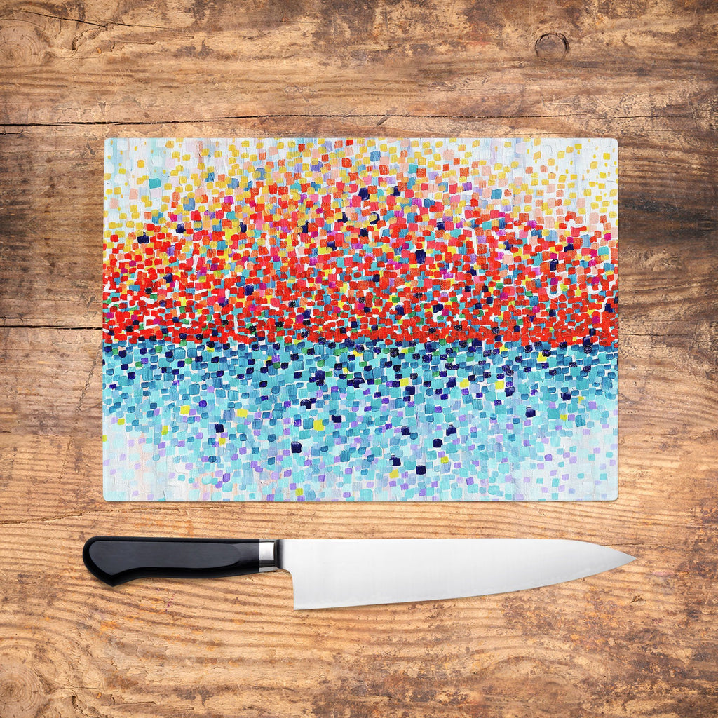 Sunshine Glass Chopping Board - Louise Mead