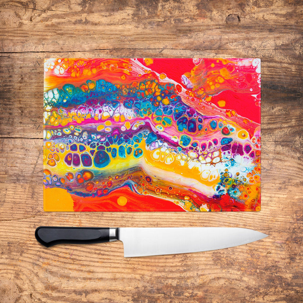 Sun Daze Glass Chopping Board - Louise Mead